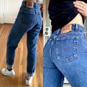 VINTAGE Levi's 550 High Waisted Tapered Mom Jeans